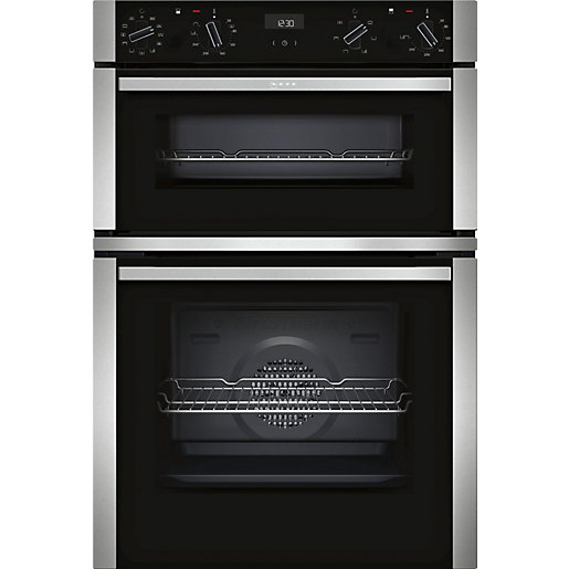 NEFF Built-In Stainless Steel Double Oven with Circotherm
