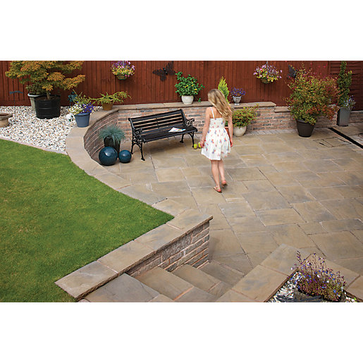 Marshalls Heritage Riven Calder Brown Paving Slab 450