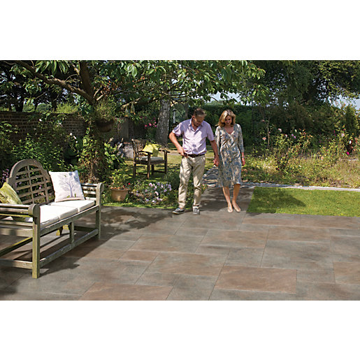 Marshalls Symphony Project Smooth Copper Porcelain Paving Patio