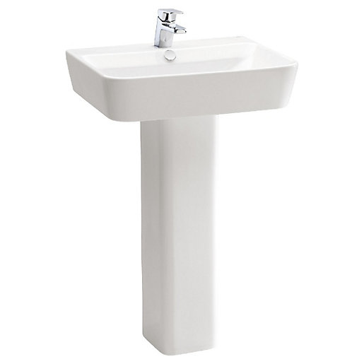 Wickes Emma Ceramic 1 Tap Hole Basin with
