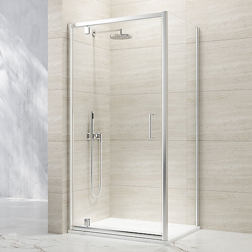 Nexa By Merlyn 8mm Chrome Framed Pivot Shower