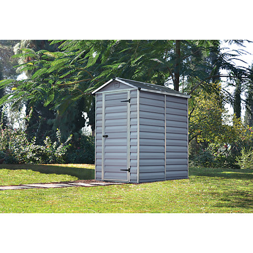 Palram 4 x 6ft Plastic Apex Shed with