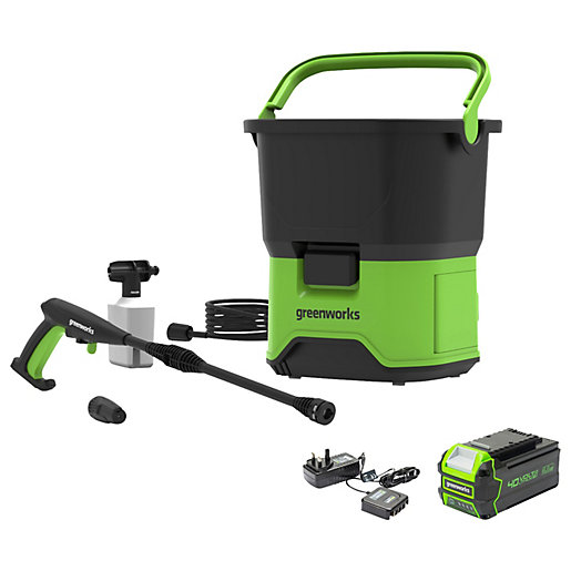 40V Cordless Pressure Washer with 4Ah Battery &