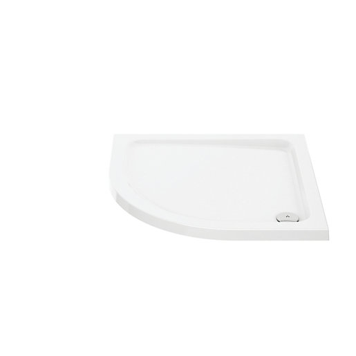 Wickes 45mm Cast Stone Square Shower Tray -
