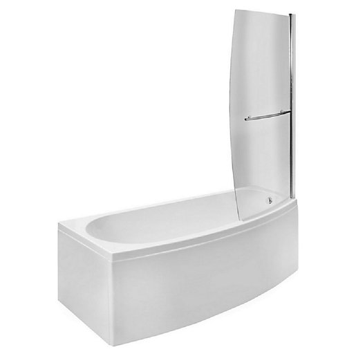 Wickes Right Hand Space Saver Shower Bath -1690
