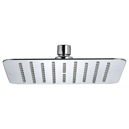 Bristan Stainless Steel Slimline Square Fixed Shower Head