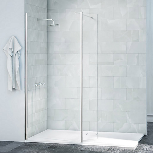 Nexa By Merlyn Chrome Frameless Swivel Wet Room