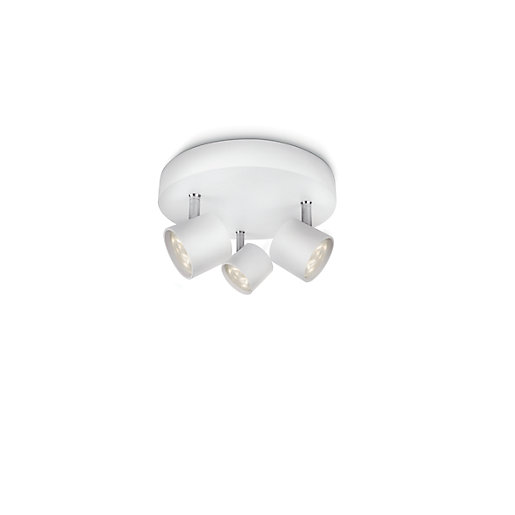 Philips Star LED White 3 Plate Spotlight -