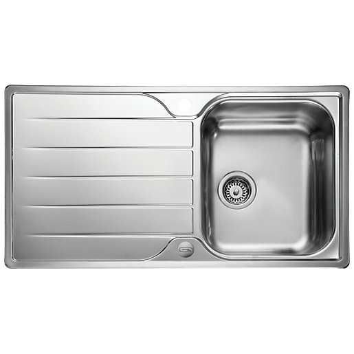 Leisure Albion 1 Bowl Reversible Inset Stainless Steel