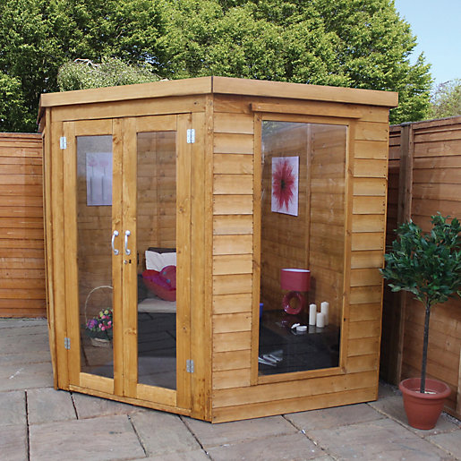 Mercia 7 x 7 ft Elegant Corner Summerhouse