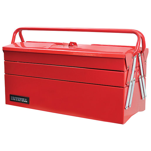 Faithfull Metal Cantilever Tool Box 5 Tray 500mm