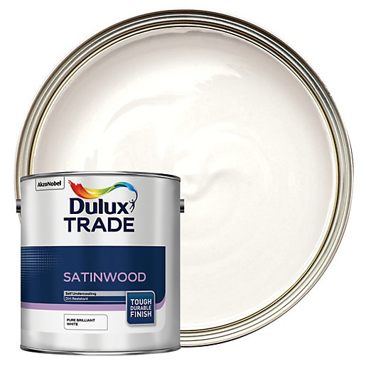 Dulux Trade Satinwood Paint - Pure Brilliant White