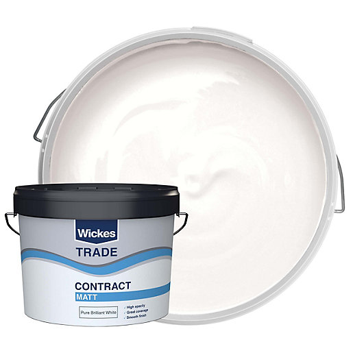 Wickes Trade Contract Matt Emulsion Pure Brilliant White