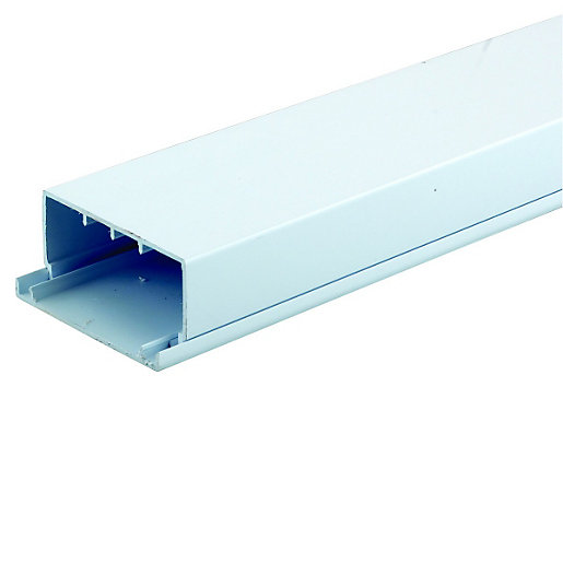 Wickes Maxi Trunking - White 100 x 50mm