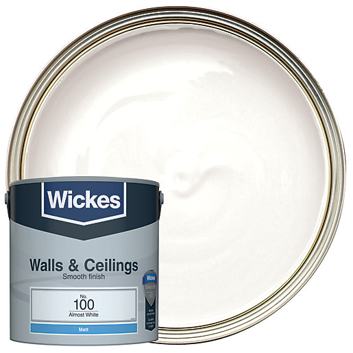 Wickes Almost White - No.100 Vinyl Matt Emulsion
