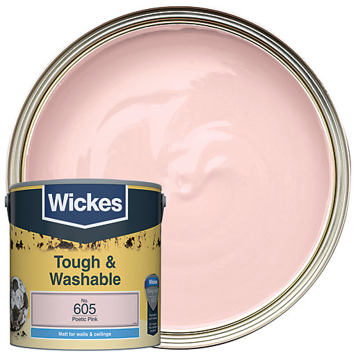 Wickes Poetic Pink - No.605 Tough & Washable