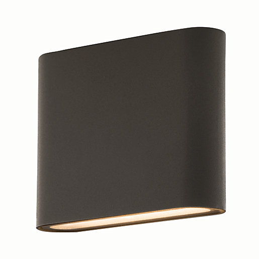 Luceco LED Grey Exterior Flat Wall Light -