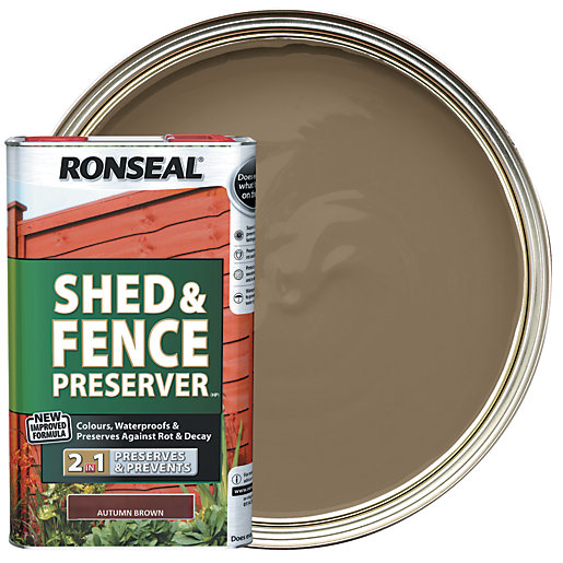 Ronseal Shed & Fence Preserver - Autumn Brown