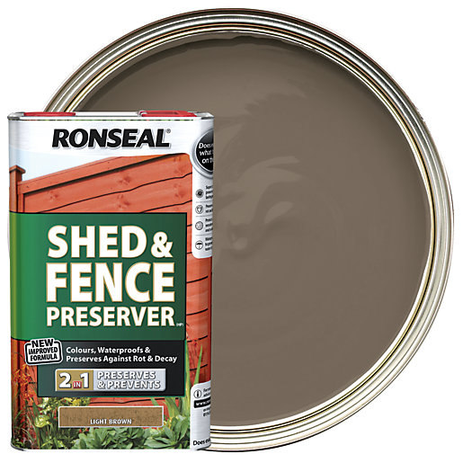 Ronseal Shed & Fence Preserver - Light Brown