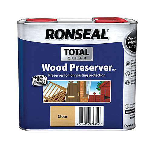 Ronseal Total Wood Preserver Clear 2.5L