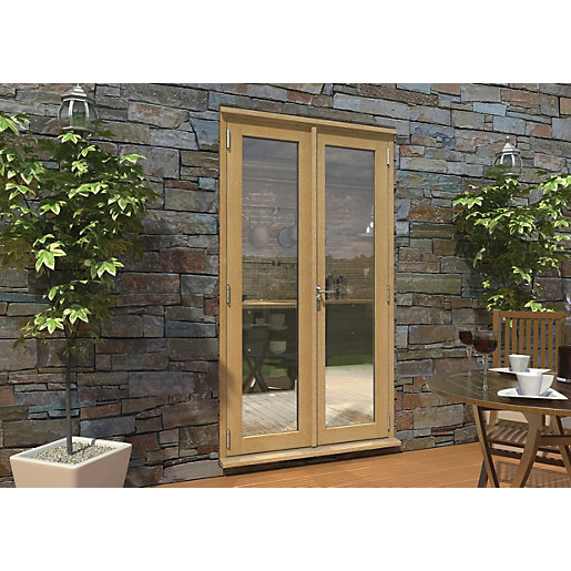 Rohden Pattern 10 Unfinished Oak French Doors -
