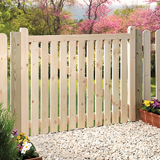 Wickes Timber Slatted Timber Gate Kit - 1206