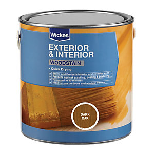 Wickes Quick Drying Woodstain - Dark Oak 750ml