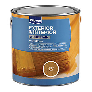 Wickes Quick Drying Woodstain - Light Oak 750ml