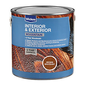 Wickes Woodstain - Brown Mahogany 750ml