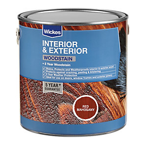 Wickes Woodstain - Red Mahogany 2.5L