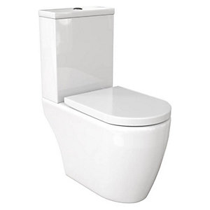 Wickes Galeria Open Back Close Coupled Toilet Pan & Soft Close Seat