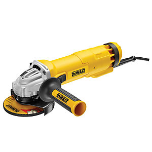 DEWALT DWE4206K-LX 115mm Slide Switch Corded Angle Grinder with Kitbox 110V - 1010W