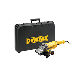 DEWALT DWE492K-GB Large Corded Angle Grinder 230mm With Kit Box 240V - 2200W