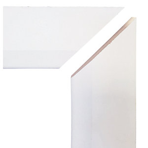 Chamfered Mitred Primed MDF Architrave Set - 14.5mm x 69mm x 2.1m