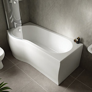 Wickes Valsina P-Shaped Front Bath Panel - 1500 x 510mm