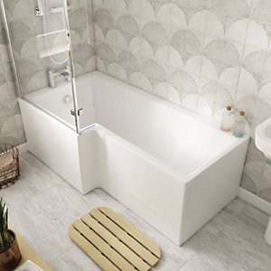 Wickes Veroli L-Shaped Front Bath Panel - 1500 x 510mm