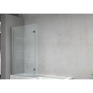 Wickes 6mm L-shaped Shower Bath Screen For L-shaped Baths - 1500 X 950mm