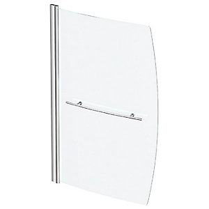 Wickes Space Saver Bath Screen 6mm with Chrome Rail - 1400 x 800 mm
