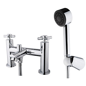 Wickes Trivor Chrome Bath Shower Mixer Tap