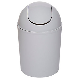 Wickes 3L Plastic Swing Bin - Grey