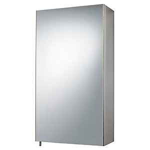 Wickes Stainless Steel Single Bathroom Cabinet 30 x 55mm
