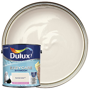Dulux Easycare Bathroom Soft Sheen Emulsion Paint - Summer Linen 2.5L