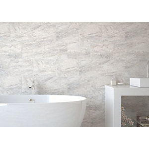 Wickes Amalfi Slate Grey Ceramic Wall & Floor Tile - 360 x 275mm