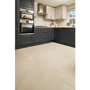 Wickes Boutique Andora White Glazed Porcelain Wall & Floor Tile - 790 x 790mm
