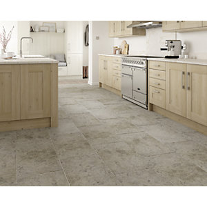 Wickes Boutique Kirkby Brown Tumbled Limestone Wall & Floor Tile - 700 x 400mm