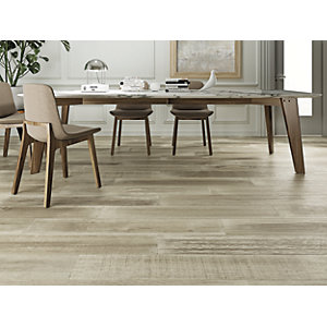 Wickes Boutique Oslo Oak Glazed Porcelain Wood Effect Wall & Floor Tile - 1200 x 200mm