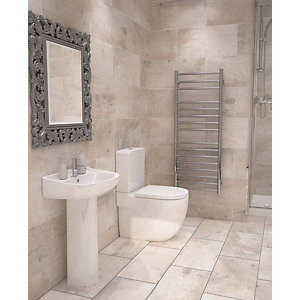 Wickes Cabin Tawny Beige Ceramic Wall & Floor Tile - 600 x 300mm