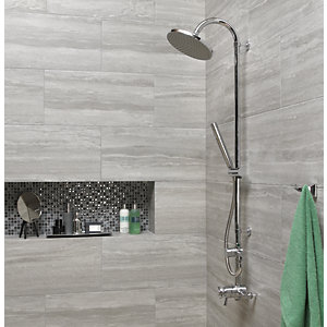 Wickes Everest Stone Porcelain Wall & Floor Tile - 600 x 300mm