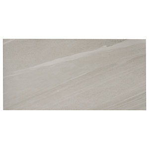 Wickes Olympia Grey Polished Sandstone Porcelain Wall & Floor Tile 600 x 300mm Sample