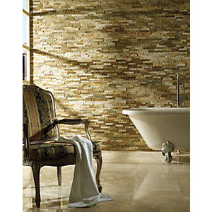 Wickes Oyster Split Face Mosaic Tile - 360 x 100mm Pack of 5